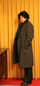 Becky dresses as Sherlock. Not surprising.