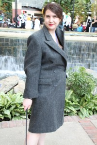 Becky dressed as Irene Adler
