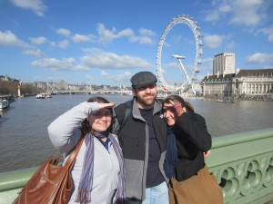 Us in London.