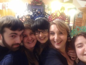 Here we are last New Year's Eve welcoming in 2012!