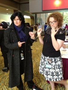 I met Curly of the Baker Street Babes at 221BCon